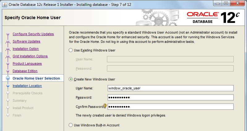 Oracle Database Installation Steps