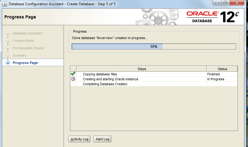 Oracle Database Creation Steps